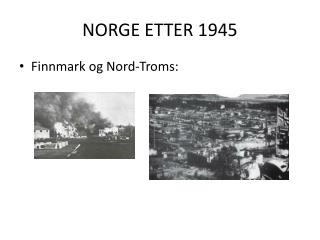 NORGE ETTER 1945