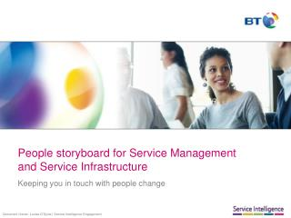People storyboard for Service Management and Service Infrastructure