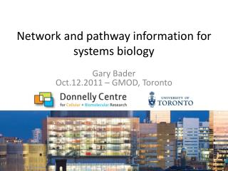 Network and pathway information for systems biology