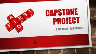 capstone 			project