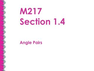 M217  Section 1.4