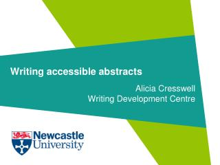 Writing accessible abstracts
