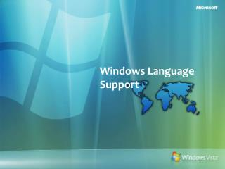 Windows Language Support
