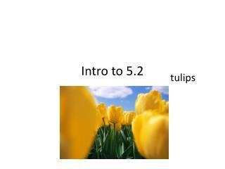 Intro to 5.2