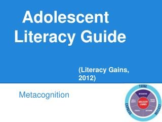 Adolescent Literacy Guide (Literacy Gains, 2012)