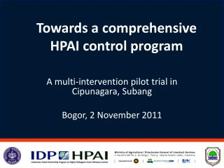 Towards a comprehensive  HPAI control program