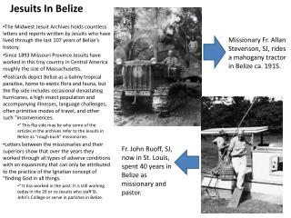 Jesuits In Belize