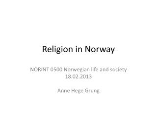 Religion in Norway