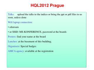 HQL2012 Prague