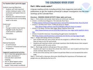The Colorado River Story