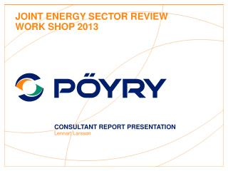 Joint Energy Sector Review Work Shop 2013