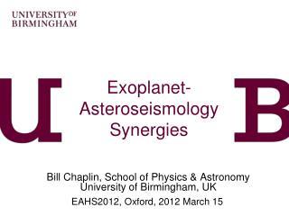 Exoplanet-Asteroseismology Synergies