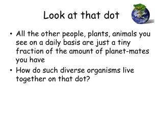 Look at that dot