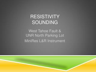 Resistivity Sounding