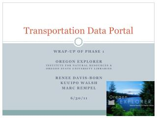 Transportation Data Portal