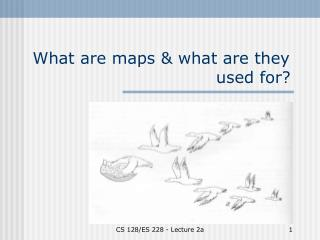 What are maps & what are they   				          used for?