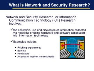 What is Network and Security Research?
