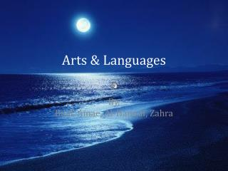 Arts & Languages