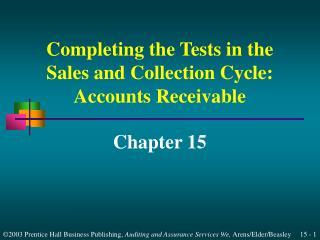 Accounts Receivable Tests of Balances