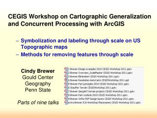 Cindy Brewer Gould Center Geography Penn State Parts of nine talks