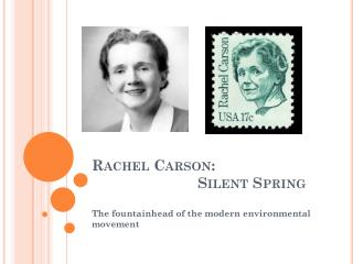 rachel carson essay Silent spring is a book written by rachel carson and published by  of the  reason foundation) published an essay by ronald bailey, a fellow.