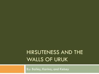 Hirsuteness and the Walls of  Uruk