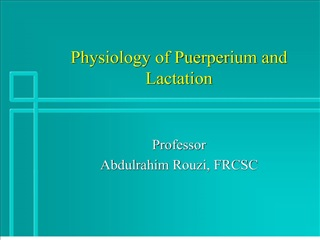 Physiology of Puerperium and Lactation