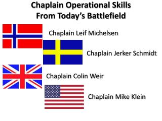 Chaplain Operational Skills From Today's Battlefield