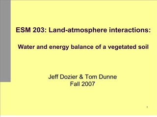 ESM 203: Land-atmosphere interactions