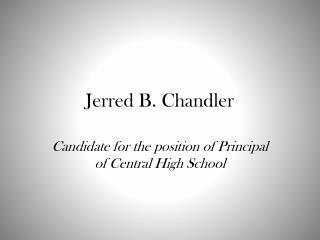 Jerred  B. Chandler