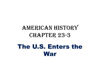 American History Chapter 23-3