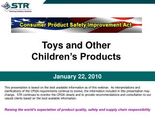 Toys and Other Childrens Products