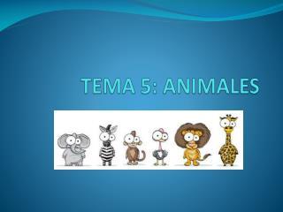 TEMA 5: ANIMALES