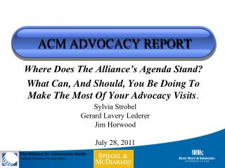 ACM ADVOCACY REPORT