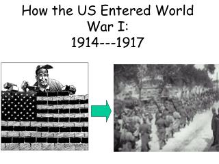 How the US Entered World War I: 1914---1917