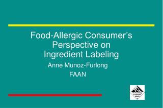 Food-Allergic Consumer