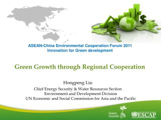 Green Growth through Regional Cooperation