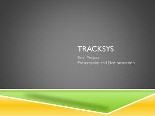 TrackSys
