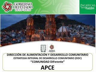 DIRECCIÓN DE ALIMENTACIÓN Y DESARROLLO COMUNITARIO