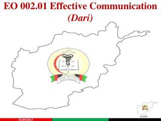EO 002.01 Effective Communication (Dari)