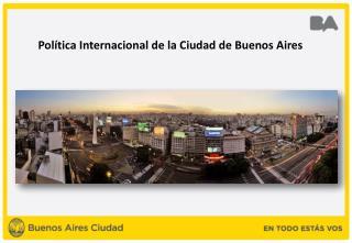 Política Internacional de la Ciudad de Buenos Aires