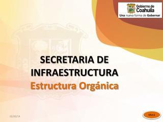 SECRETARIA DE INFRAESTRUCTURA Estructura Orgánica