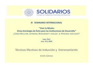"""XI    SEMINARIO INTERNACIONAL """" Vivir la Misión:"""