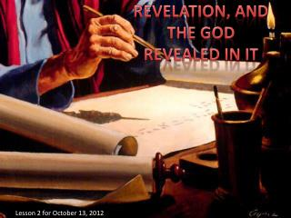 REVELATION, AND THE GOD REVEALED IN IT