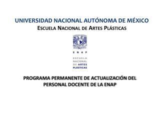 PROGRAMA PERMANENTE DE ACTUALIZACIÓN DEL PERSONAL DOCENTE DE LA ENAP