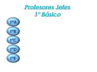 Profesores Jefes   1° Básico