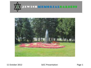 History  of  the Jewish Memorial  Gardens Pre-arrangements for cemetery  use
