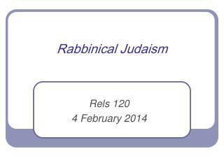 Rabbinical  Judaism