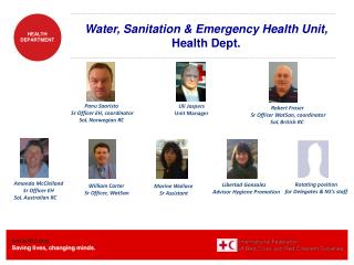 Water, Sanitation & Emergency Health Unit,  Health Dept.