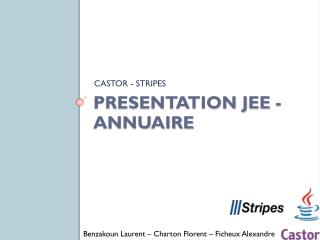 Presentation JEE - Annuaire